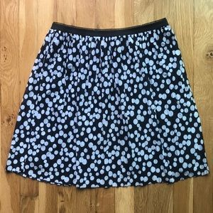 Xhilaration black & white polka dot skirt, size M